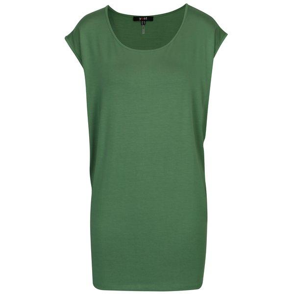 Tricou lung verde cu decolteu rotund - Yest