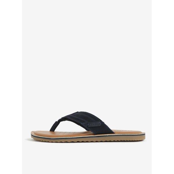 Papuci flip flop bleumarin din piele intoarsa pentru barbati – Geox Artie