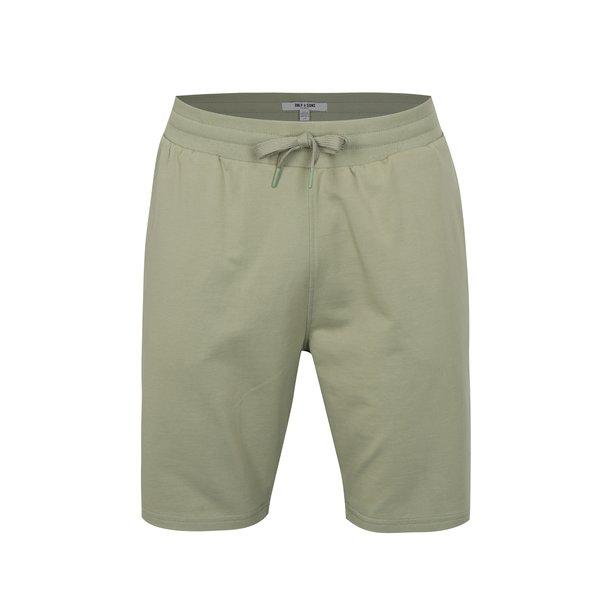 Pantaloni scurti sport verde deschis cu snur ONLY & SONS Grigori
