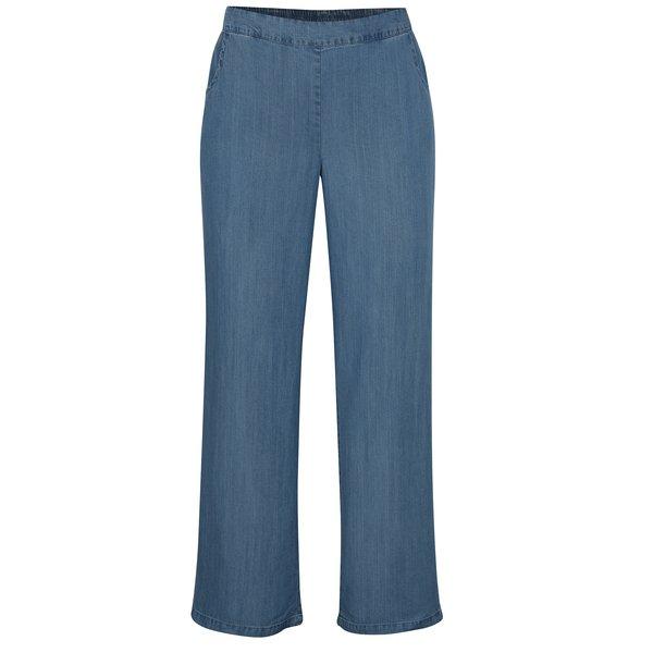Pantaloni evazati albastri cu talie elastica – Yest