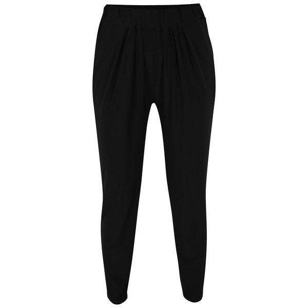 Pantaloni lejeri negri cu drapaje discrete – Yest