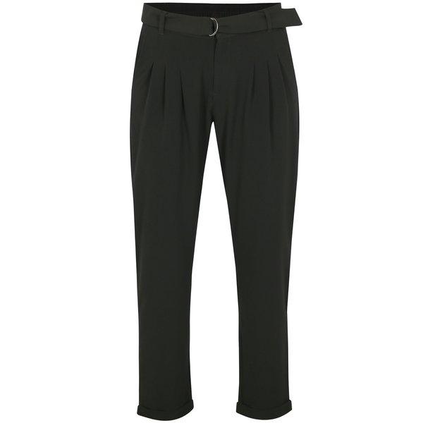 Pantaloni negri cu talie inalta si pense – Jacqueline de Yong Bax