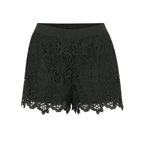 Pantaloni scurti negri din macrame - ONLY Kim