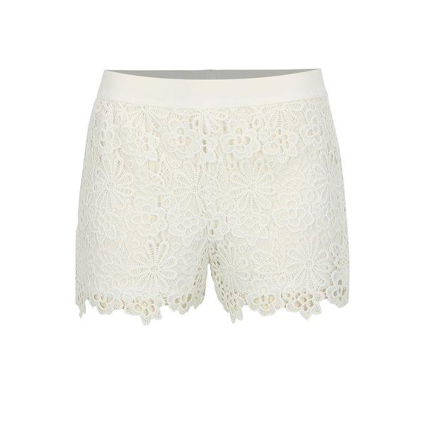 Pantaloni scurti albi din macrame - ONLY Kim