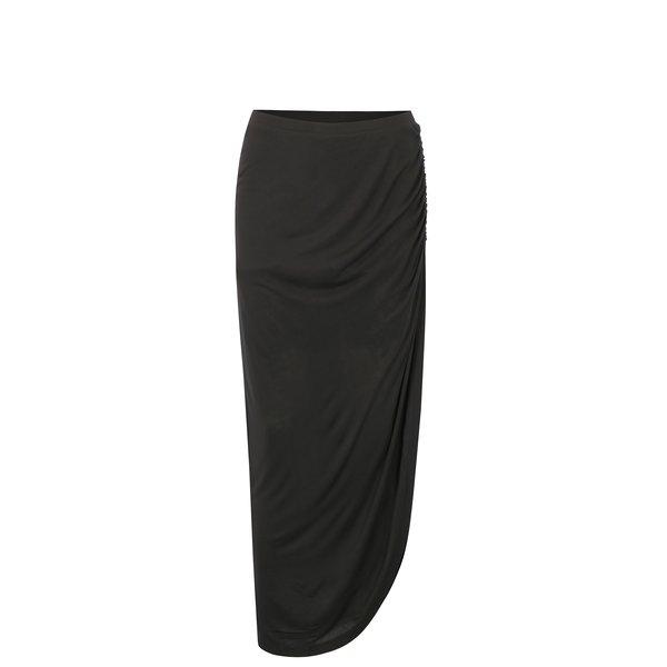 Fusta neagra asimetrica cu drapaje – ONLY Ria