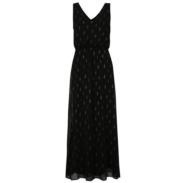Rochie maxi neagra cu model stralucitor ONLY Linette