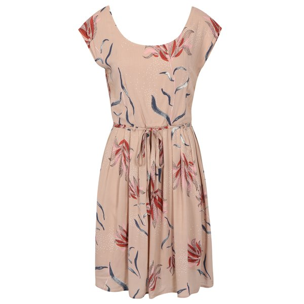 Rochie roz deschis cu print floral si cordon la talie – VILA Andi