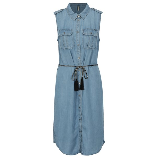 Rochie-camasa din denim bleu ONLY Arizona