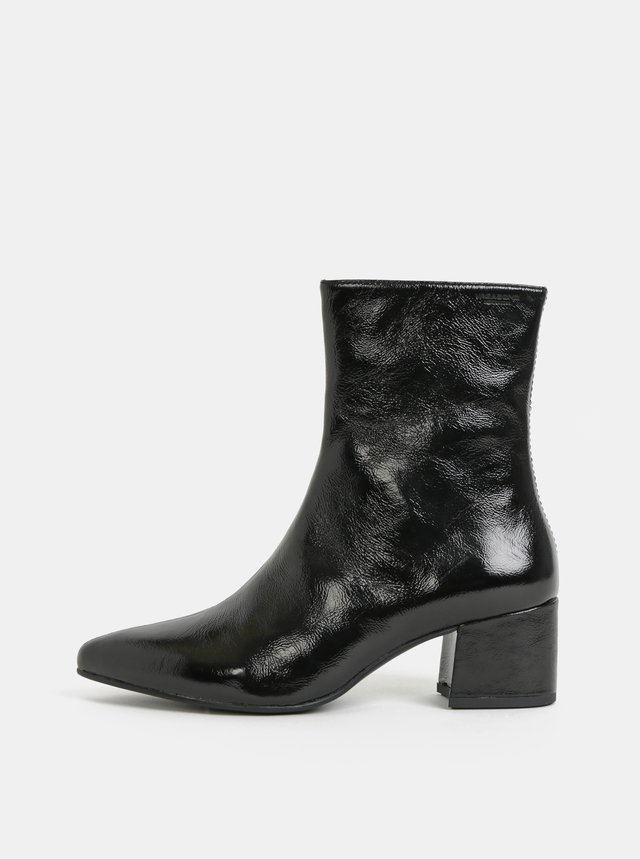 b52f1d682539 Čierne dámske kožené členkové topánky U.S. Polo Assn. Lana