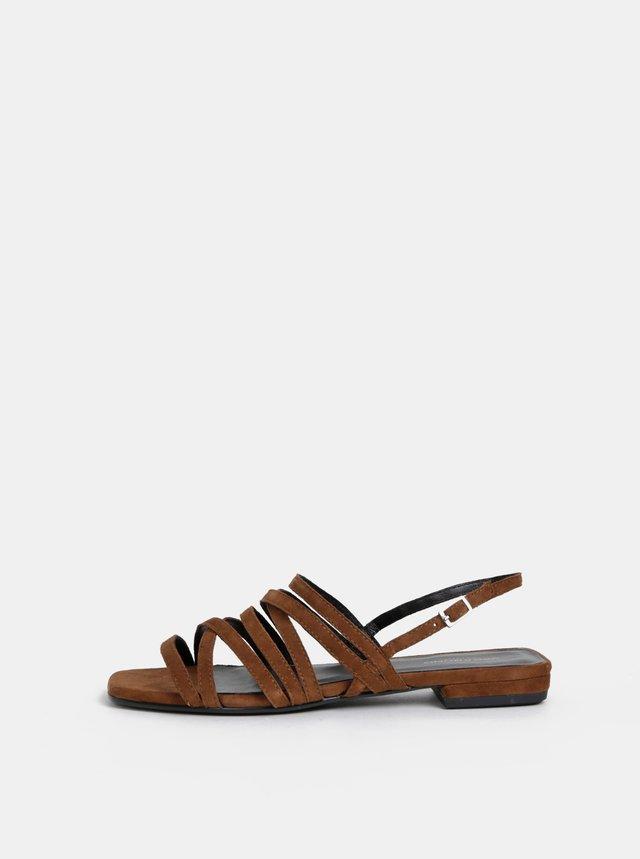 368526ea16e0 Hnedé sandálky na nízkom podpätku New Look