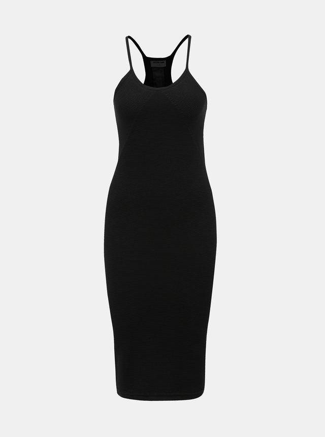 5b728707f0fe Čierne šaty so zdobeným dekoltom Little Mistress