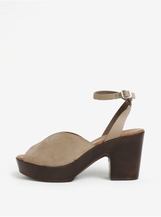 Béžové dámské sandály bugatti Jasmin  5b115060d1
