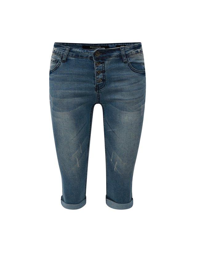 Tmavě modré dámské kraťasy s palmami Ragwear Baggy  33d16557ed