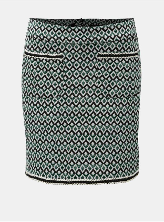Modrá lehká džínová sukně Ulla Popken  bc35ff47a6