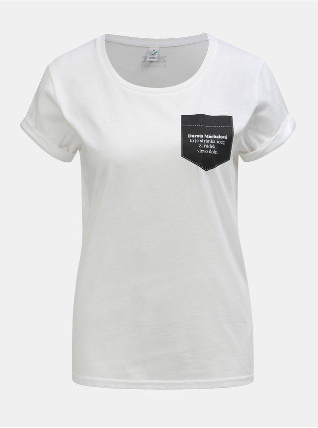 Bílé dámské tričko ZOOT Lokál Matrjoška  ab785d66d4