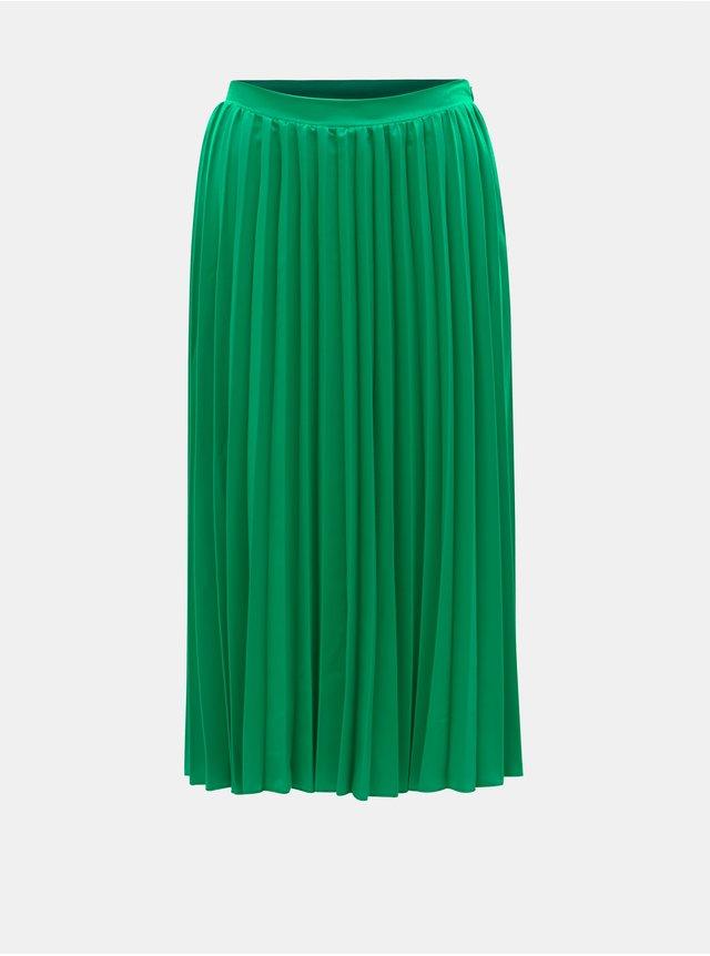 Tmavě zelená plisovaná sametová sukně Maison Scotch  692a0925b5
