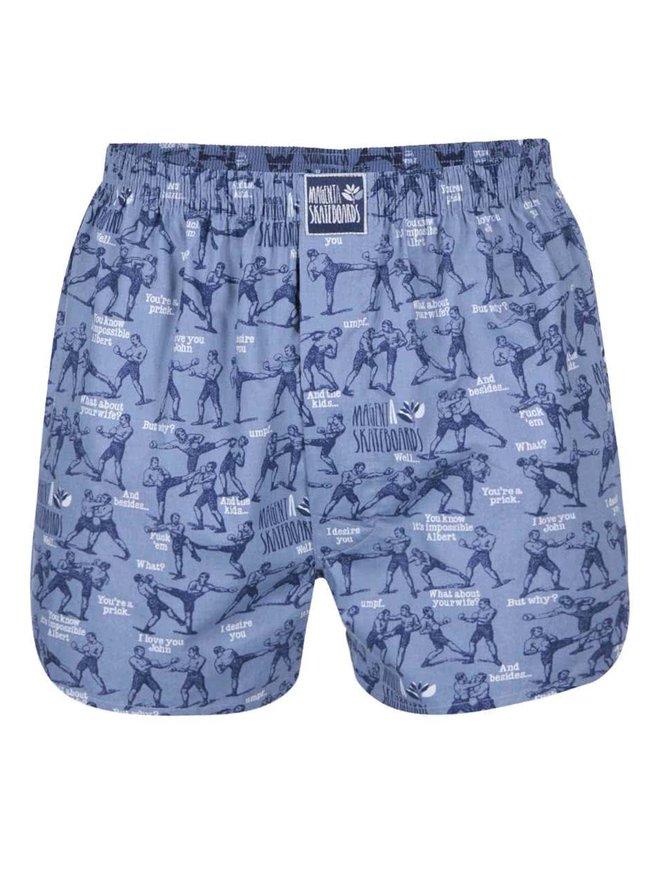 Boxeri albastri cu print - Lousy Livin Magenta