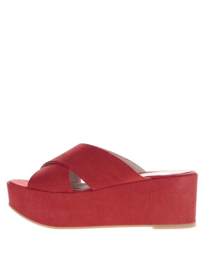 Saboți roșii cu platformă OJJU