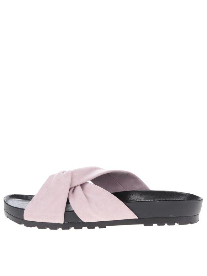 Papuci flip-flop roz pal Vagabond Erie din piele