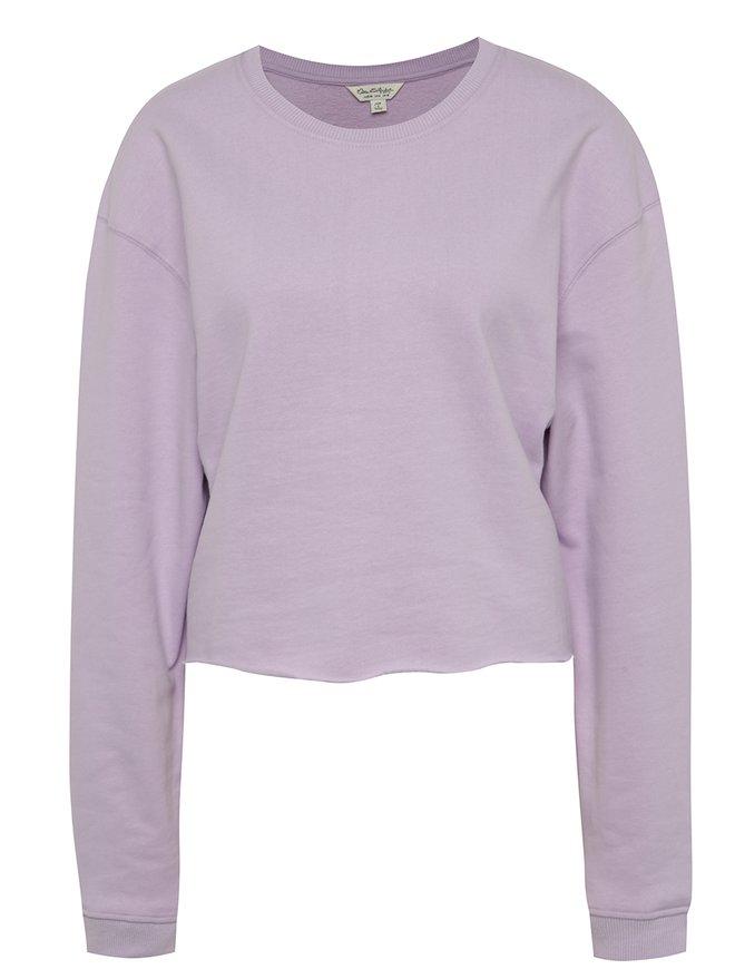 Bluză violet deschis Miss Selfridge din bumbac