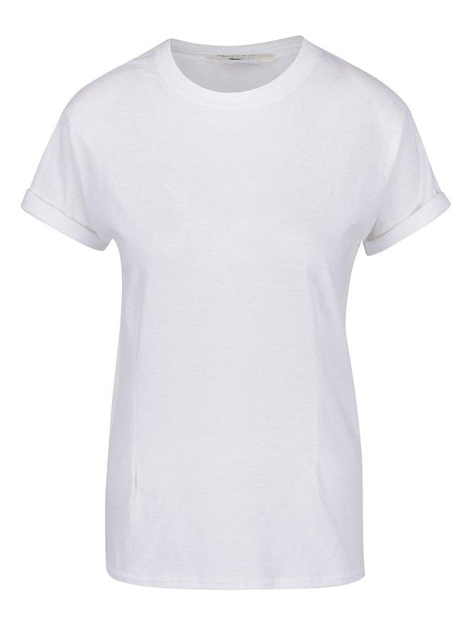 Tricou alb cu umeri întăriți Miss Selfridge