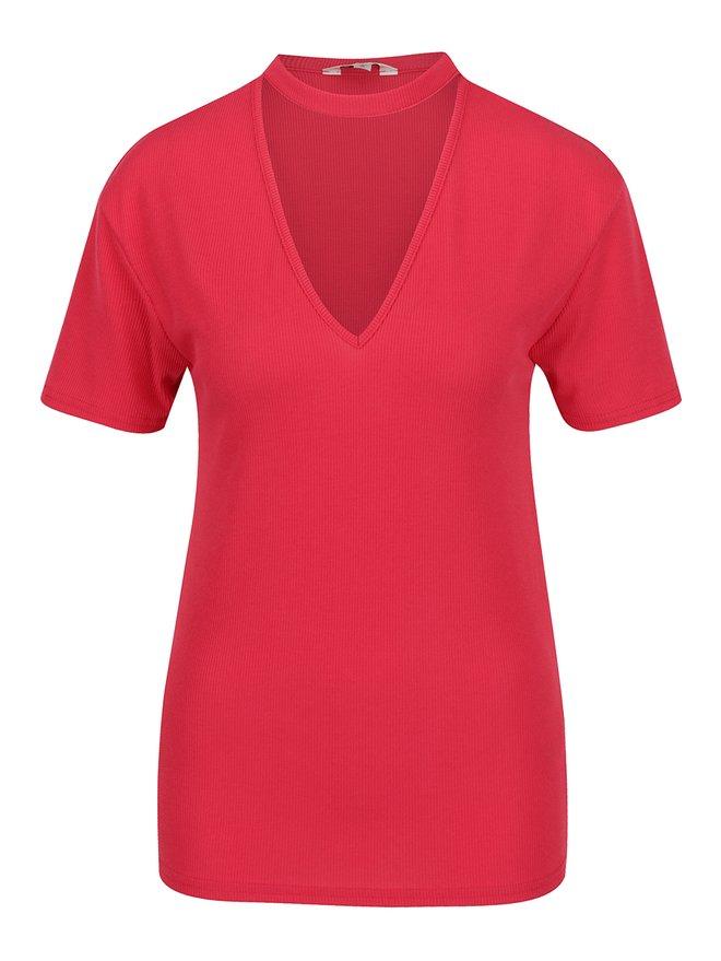 Tricou rosu Miss Selfridge cu decupaj