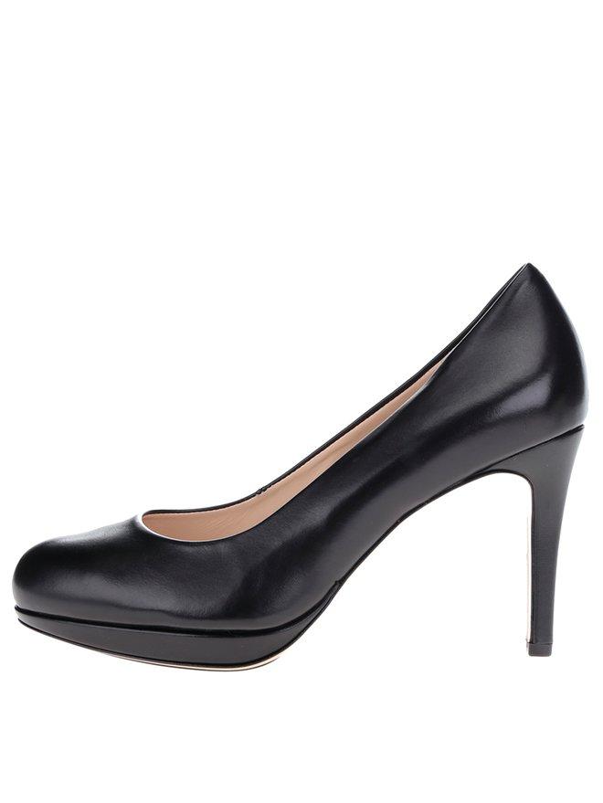 Pantofi negri din piele Houml;gl toc stiletto