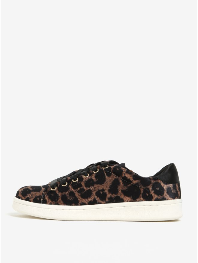 Pantofi sport maro animal pattern Miss Selfridge