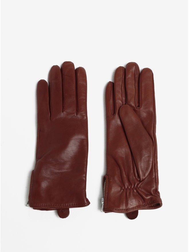 Manusi maro din piele cu captuseala de casmir pentru femei Royal RepubliQ