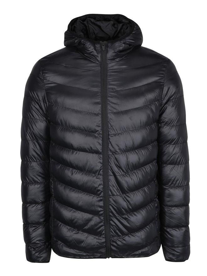 Geaca neagra matlasata cu gluga - Burton Menswear London