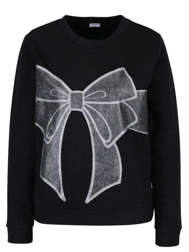 Bluza neagra cu print funda stralucitoare Jacqueline de Yong Cupid