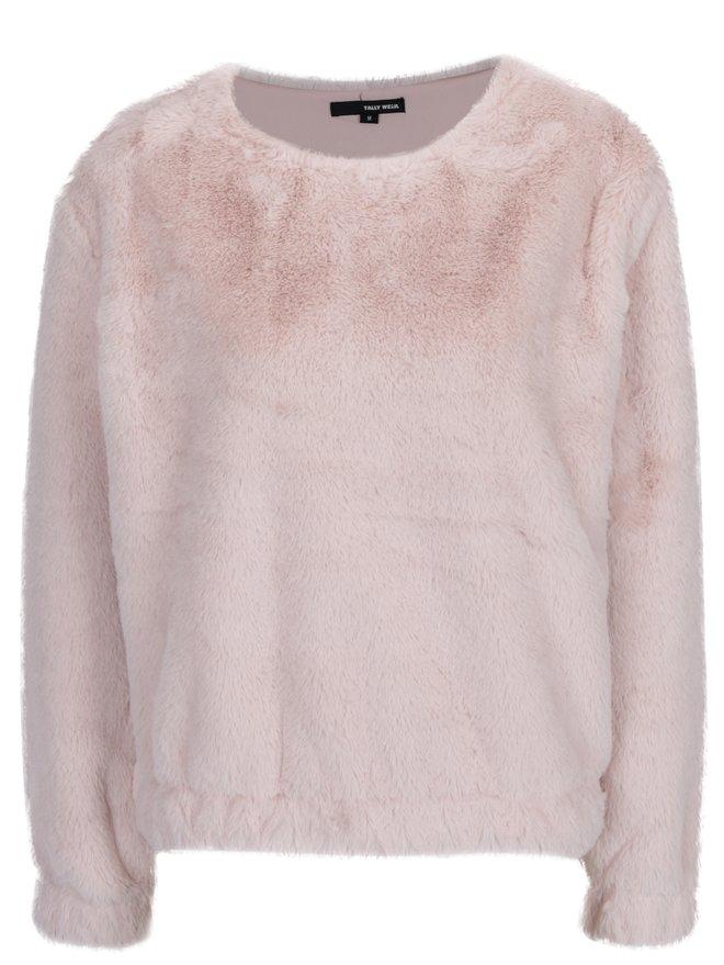 Pulover roz deschis din blana artificiala - TALLY WEiJL