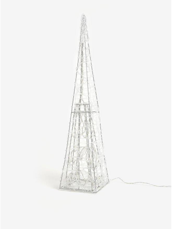 Bradut minimalist in forma de piramida cu LED-uri - Kaemingk