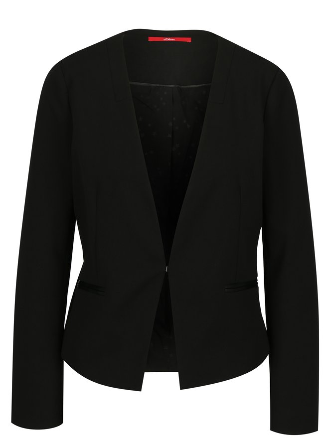 Sacou negru cambrat pentru femei - s.Oliver