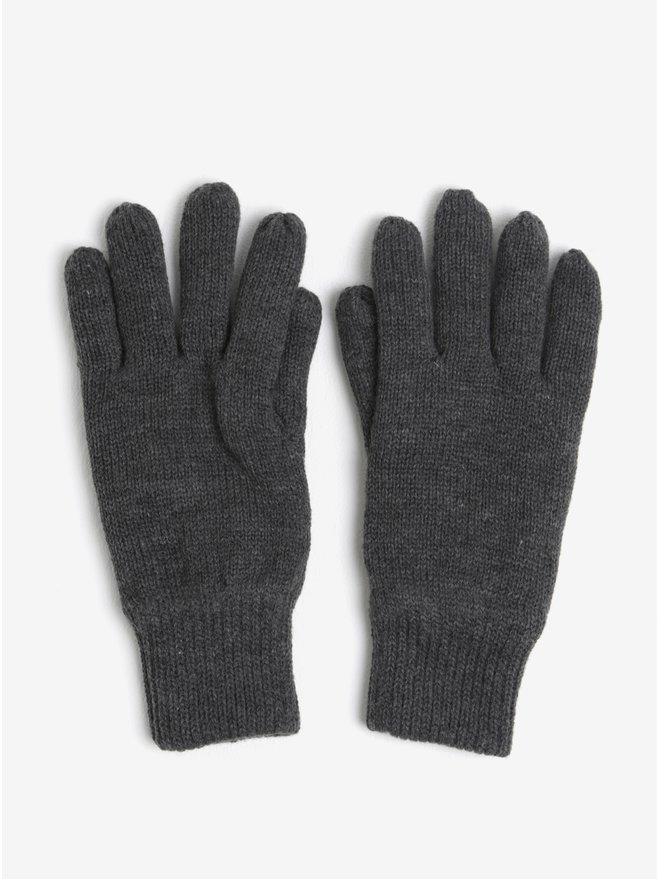 Manusi gri tricotate Burton Menswear London