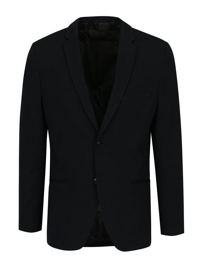 Sacou bleumarin cu revere si buzunare - Jack & Jones Premium Steven