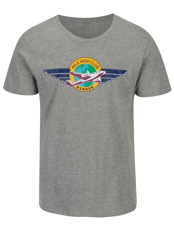 Tricou gri cu print pentru barbati - ZOOT Original MCH