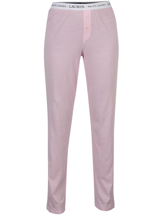 Pantaloni de pijama rozi in dungi pentru femei - Lauren Ralph Lauren