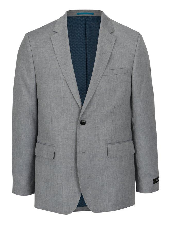 Sacou gri tailored fit cu umeri intariti - Burton Menswear London