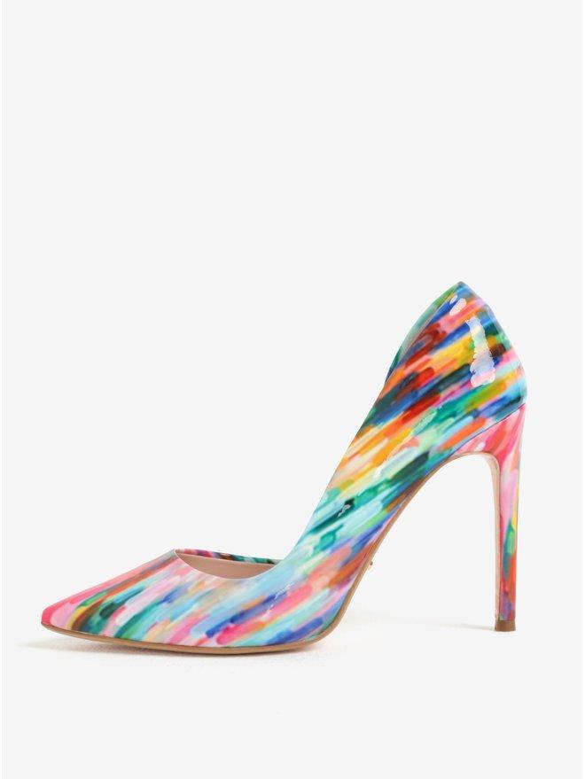Pantofi stiletto multicolori cu aspect lacuit Dune London Brynn