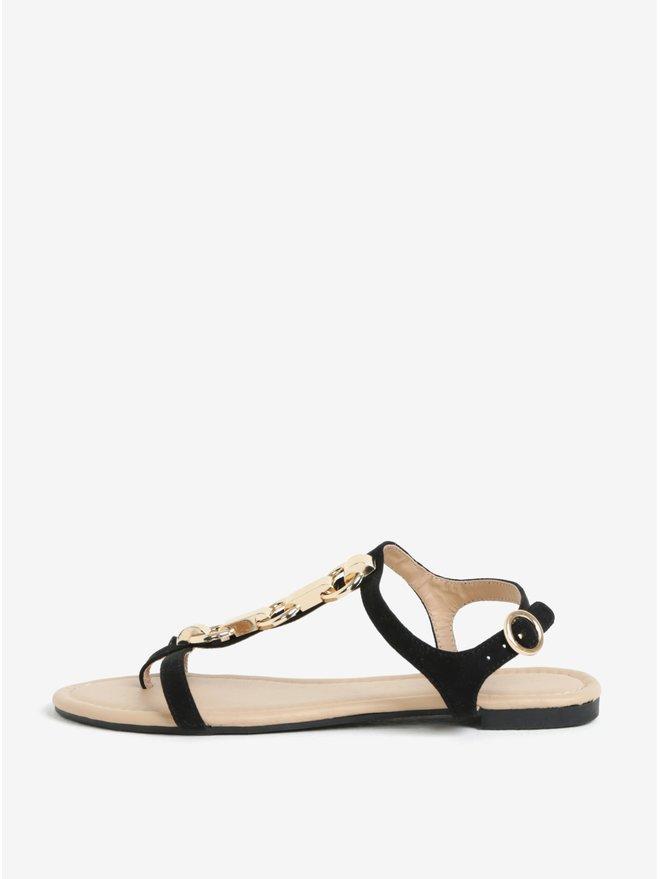 Sandale negre cu detalii metalice decorative - Dorothy Perkins