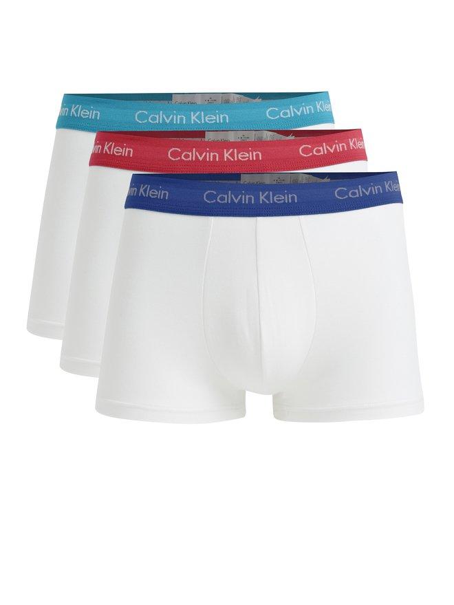 Set de 3 perechi de boxeri albi cu logo - Calvin Klein
