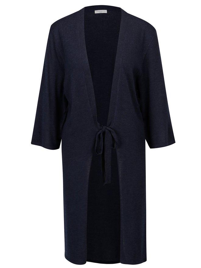 Cardigan bleumarin cu cordon in talie Jacqueline de Yong Carmen