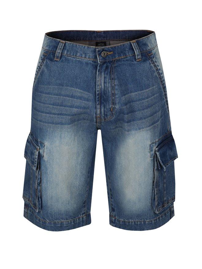 Pantaloni barbatesti scurti albastri din denim LOAP Vales