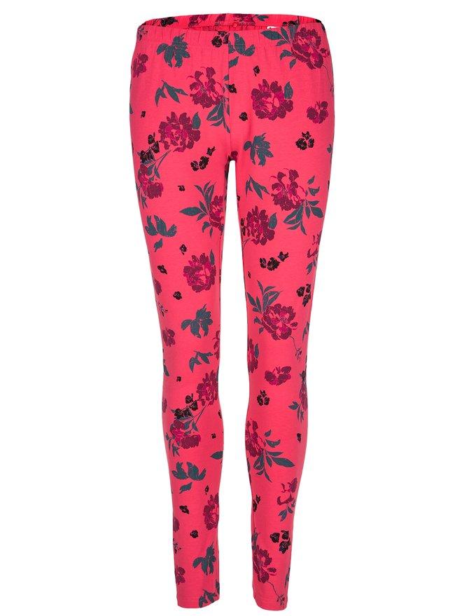 Leggings de dama roz cu model floral LOAP Baibe
