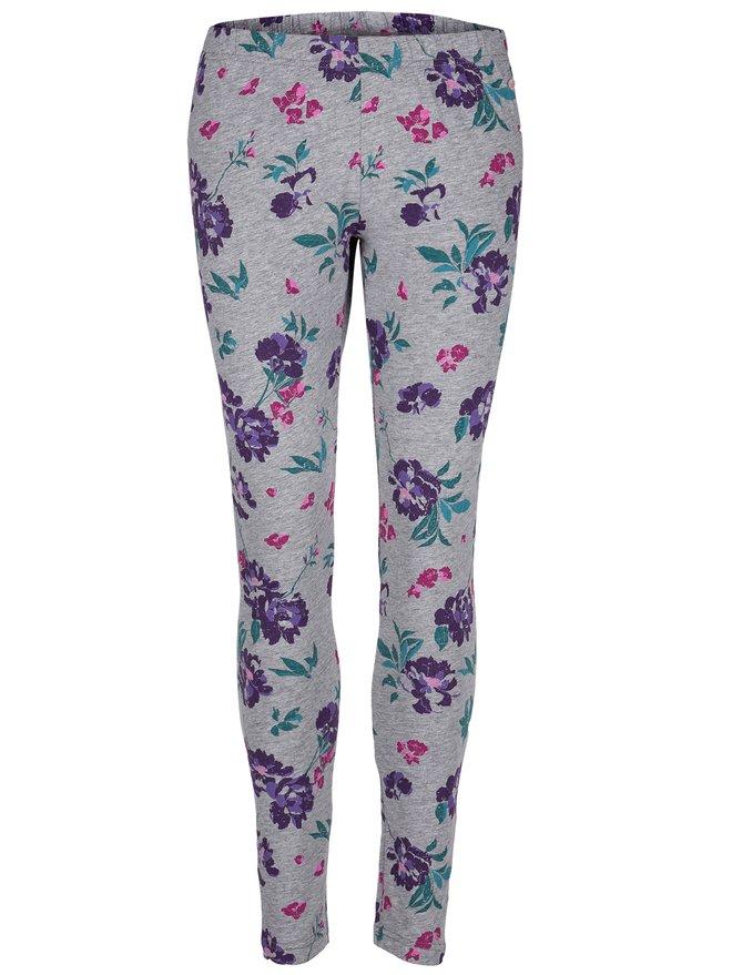 Leggings de dama gri cu model floral LOAP Baibe