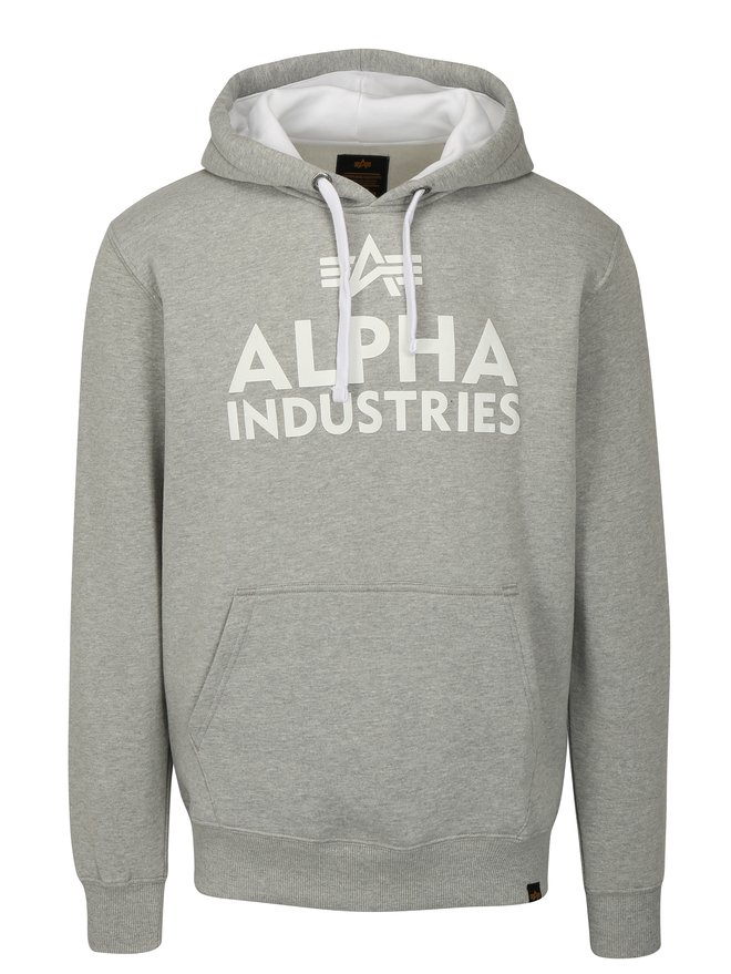 Hanorac barbatesc gri cu gluga ALPHA INDUSTRIES