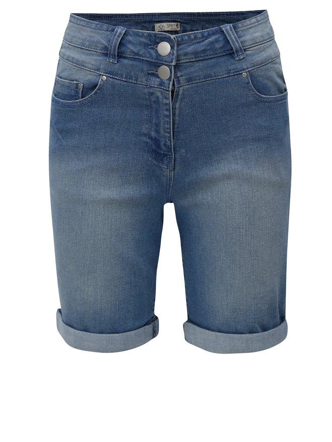 Pantaloni de dama scurti albastri din denim M&Co
