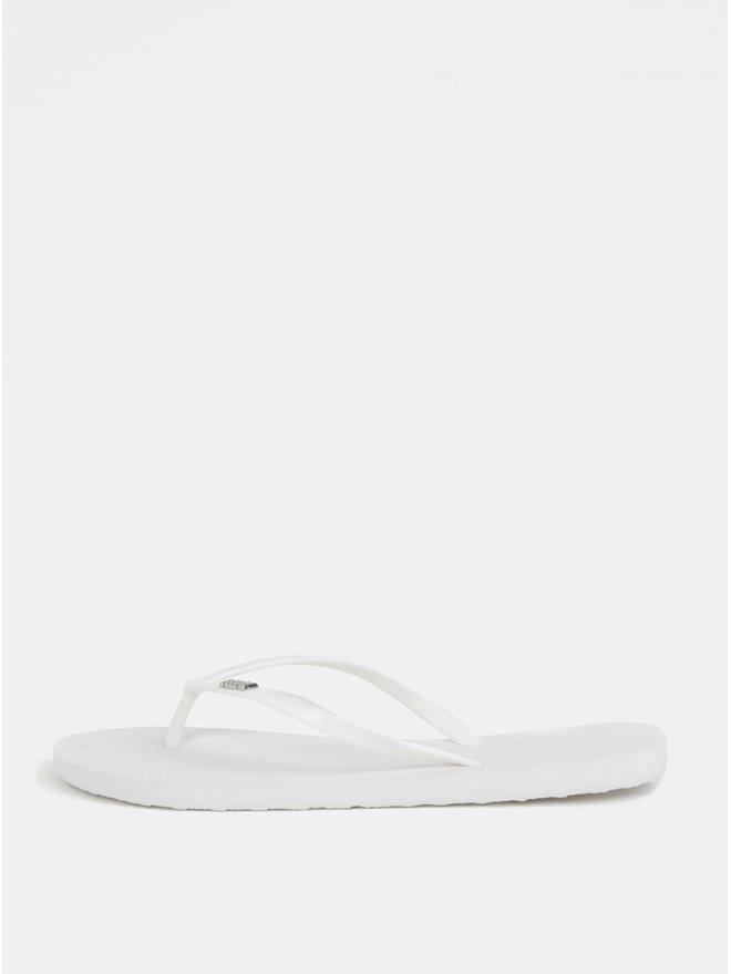 Papuci de dama flip-flop albi Roxy Viva
