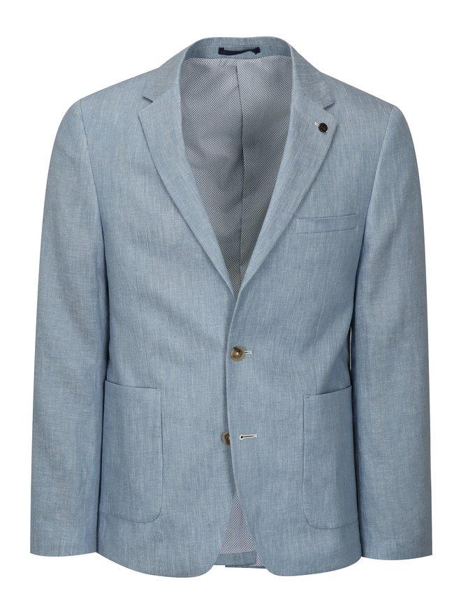 Sacou albastru deschis melanj din in Burton Menswear London